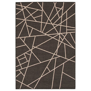 Abani Quartz Qrz150a Shades Of Gray Beige Geometric Striped Area Rug Contemporary Area Rugs By Abani Houzz
