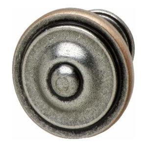 Hafele: Knob: Zinc: Antique Pewter / Copper: M4: 36 X 25mm