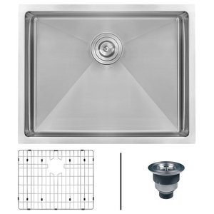 "Ruvati 23"" Undermount 16 Gauge Tight Radius Stainless Steel Kitchen Single Sink"