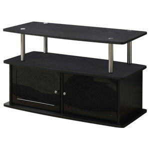 Tv Stand With 3 Cabinets Contemporary Entertainment