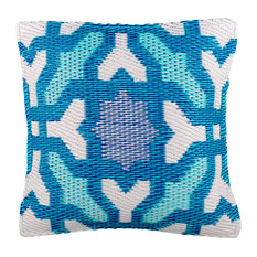 "Outdoor Accent Pillow Seville Multicolor Blue, 20""x20"""