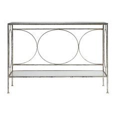 Luano Contemporary Antique Silver Console Table