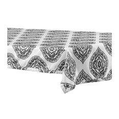"Donegal Designer FauxSilk Taffeta Table Cloth, Gray, 54""x84"""