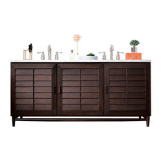 """Portland 72"""" Double Vanity, Burnished Mahogany, Without Top"""