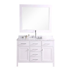"London 48"" Single Sink Vanity Set, White"