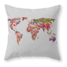 "It's Your World Throw Pillow Cover, 20""x20"" With Pillow Insert"