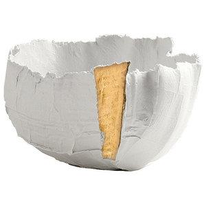 Paola Paronetto Liscio Bowl, Gold, 30 cm