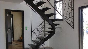 Escalier, Garde-corps, verrières, passerelles