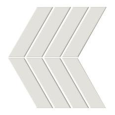 "Shape Bone ON 9""x13"" Porcelain Mosaic Tile, Set of 20"
