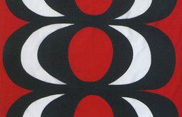 KAIVO Red/Black Fabric by Marimekko