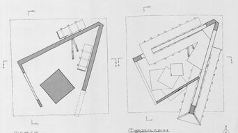 Freehand Orthographic Drawings and Final Model - Four Intersecting Walls