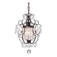 50 most popular mini chandeliers for 2018 houzz bay antoine mini crystal chandelier antique bronze chandeliers aloadofball Choice Image