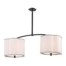 "Hudson Valley Sweeny 7942-OB 6-Light Island Lighting, Old Bronze, 15"""