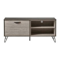 GDF Studio Vivian Two Toned Gray Oak Finish Faux Wood TV Stand Model A