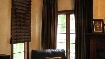 Hobbled Roman Valances with Coordinating Drapery