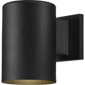 1-Light Exterior Wall-Mounted Light, Black
