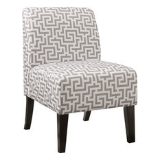 Acme Furniture   Ollano Accent Chair, Pattern Fabric, Gray   Armchairs And  Accent Chairs