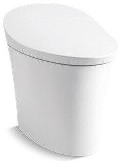 Veil(TM) Intelligent skirted one-piece elongated dual-flush toilet - Toilets