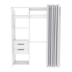 Dress White Clothes Organiser With Curtain