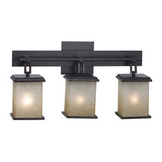 Kenroy Home 03374 Plateau 3 Light Bathroom Vanity Light - Bronze