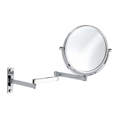 DWBA Wall Cosmetic Makeup Magnifying Swivel And Extendable Mirror, Chrome, 5x