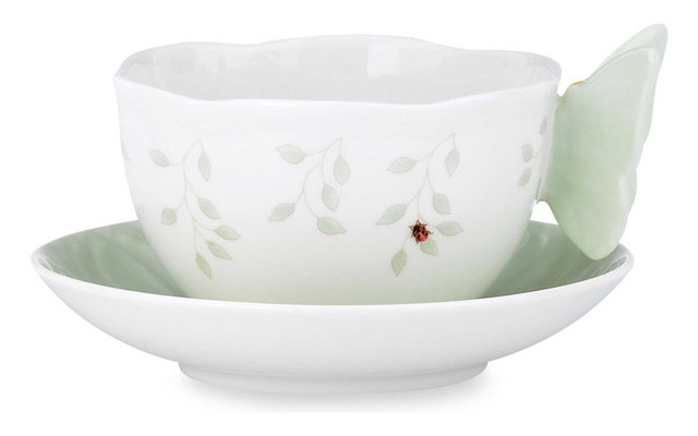 Lenox Butterfly Meadow Green Tea Cup And Saucer Set