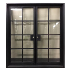 """French Right Hand In-Swing Clear Glass Door, 72""""x81"""""""