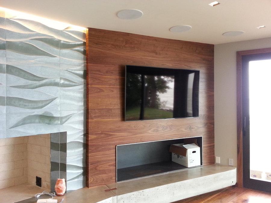 Contemporary Living Room Television Installation