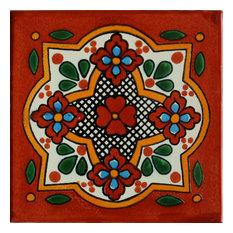 """36-Piece Tepupa Talavera Mexican Tile 2x2"""""""