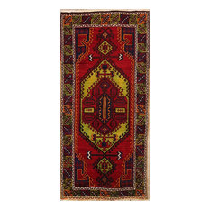 """Consigned, Traditional Vintage Hand-Knotted Oriental Area Rug, Red, 12'2""""x5'8"""""""