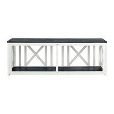 Safavieh Branco Bench, Dark Slate Gray/White