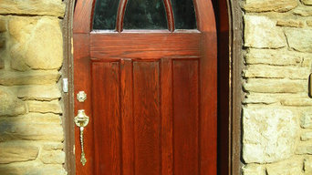 Historic Arched Oak Door