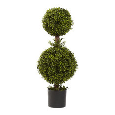 Artificial Tree -35 Inches Double Boxwood Topiary Tree