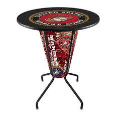Lighted Marines Pub Table by Holland Bar Stool Company