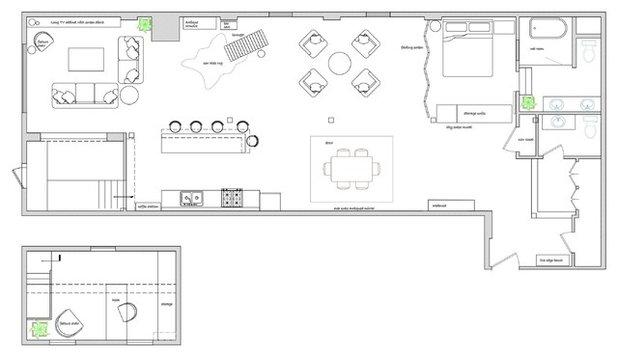 Elegant Floor Plan A Design Consultation and DIY Spirit Reinvents an Industrial Loft