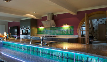 Bespoke Fused Glass Kitchen Splashback in Bridge of Allan, Sterlingshire