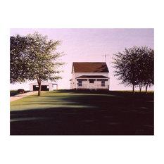 "Mike Bennett Illinois Farmhouse Art Print, 9""x12"""