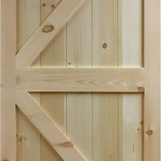Inandouthome - Kimberly Bay Barn Door K-Rail Unfinished Solid Pine 36  & 50 Most Popular Barn Doors for 2018   Houzz