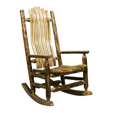 Superieur Montana Woodworks   Montana Woodworks Adult Log Rocking Chair In Glacier  Country   Rocking Chairs