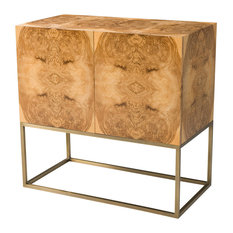 Olive Ash Burl Cabinet by English Georgian America