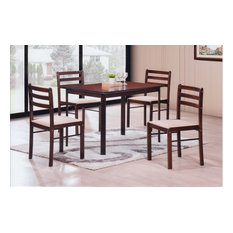 hodedah import inc 5 piece dinette set cappuccino dining sets - Pictures Of Dining Room Sets