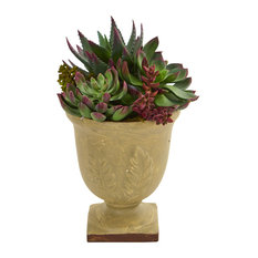 Nearly Natural Home Indoor Mixed Succulent Artificial Plant