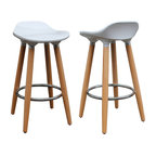 "Trex 26"" Counter Stools, Set of 2, White"