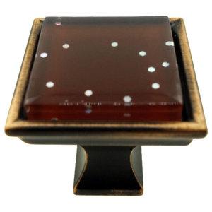 Violet Blossom Handmade Glass Cabinet Hardware ...