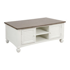 Rectangular Console Table In Off-White/Brown-Grey Wood-Toned Veneer Finish With