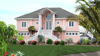 Pink Oceanfront Beach House, Sandbridge Virginia