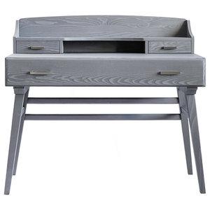 Bababua' Lettera Vintage Desk, Grey