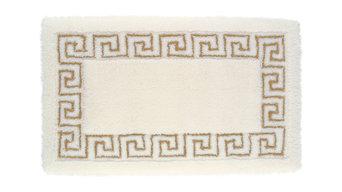 Meander Bath Mat, Jasmine White and Lurex Gold, 70x130 cm