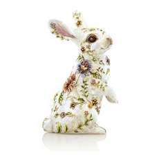 Jay Strongwater Sunny Floral Bunny Figurine SDH1903-256
