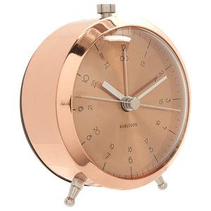 Button Alarm Clock, Copper